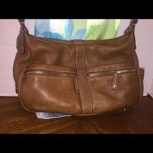 Tignanello's Genuine Leather Caramel Crossbody Bag
